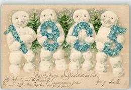 52828324 - 1905 Schneemann Neujahr - Anno Nuovo