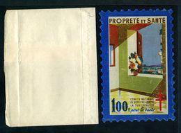 """Tuberculose Antituberculeux - Grand Timbre De 1946  """"100 Fr Pour La Santé"""" -  Avec La Pochette - Erinnofilia"""