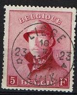 177  Obl  étoile Liège 23  Aminci Sous Charnière  122 - 1919-1920 Trench Helmet
