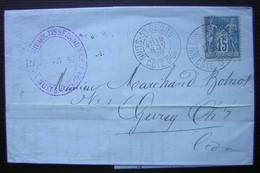 Nuits Saint Georges 1898 (Côte D'or)  Lécrivain Tisserand & Cie Lettre Pour Gevrey Chambertin - Storia Postale