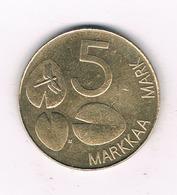 5 MARKKA  1995  FINLAND /5994/ - Finlande