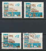 °°° CILE CHILE - Y&T N°723/26 - 1986 °°° - Cile