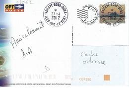 13062  PAP - BORA - BORA - POLYNÉSIE -  VAITAPE  2012 - Lettres & Documents