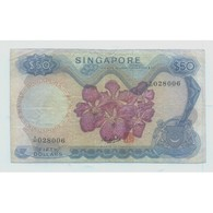 RARE ! Singapore Orchids Series $50 HSS Sign CURRENCY MONEY BANKNOTE 'A' PREFIX  (#5) - Singapore