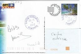 13063  PAP - RANGIROA - POLYNÉSIE -  TIPUTA  2012 - Tàd Mal Monté - Lettres & Documents