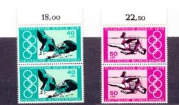 1976  Montreal, Deutsche Bundespost, 2er Streifen, (2 Werte), Postfrisch - Sommer 1976: Montreal