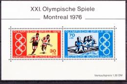 1976  Montreal, Deutsche Bundespost,Block (2 Werte), Postfrisch - Sommer 1976: Montreal