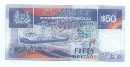 RARE !! SINGAPORE $50 Ship Series Coaster Vessel  CURRENCY MONEY BANKNOTE 'A' PREFIX (#2) - Singapore