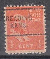USA Precancel Vorausentwertung Preo, Locals Kansas, Reading 703 - Vereinigte Staaten