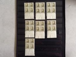 Nr.166**/*Albert Met Helm Plaatnummer 1 Tot 4 En 6 Tot 8. - 1919-1920 Roi Casqué