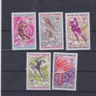 France 1968 Grenoble Olympic Games Five Stamps MNH/**  (H57) - Winter 1968: Grenoble