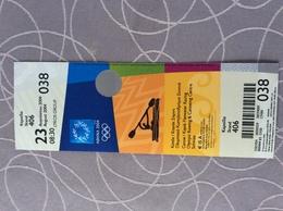 TICKET O.S 2004 GRIEKENLAND - Olympische Spelen