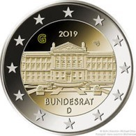 Duitsland 2019  2 Euro Commemo  Letter J  Atelier J    Bundesrat  UNC Uit De Rol  UNC Du Rouleaux - Allemagne