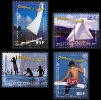 POLYNESIE 2003 - Yv. 690 691 692 Et 693 **   Faciale= 2,86 EUR - Pirogues à Voile (4 Val.)  ..Réf.POL24182 - Polynésie Française