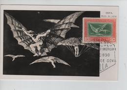 PR6650/ Spain Maximum Card Goya 1930 Cancellation Sevilla - Maximum Cards