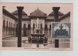 PR6651/ Spain Maximum Card Granada Alhambra 1931 Cancellation Granada - Maximum Cards