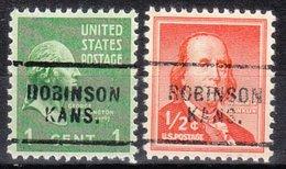 USA Precancel Vorausentwertung Preo, Locals Kansas, Robinson 703, 2 Diff. - Vereinigte Staaten