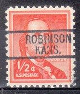 USA Precancel Vorausentwertung Preo, Locals Kansas, Robinson 812 - Vereinigte Staaten