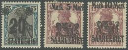 Sarre 1920-1935 - N° 50 à 52 (YT) N° 50 à 52 (AM) Neufs *. - 1920-35 Société Des Nations