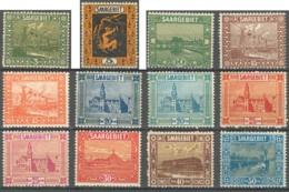 Sarre 1920-1935 - N° 83 à 100 (YT) N° 83 à 100 (AM) Neufs *. 2 Scans. - 1920-35 Société Des Nations