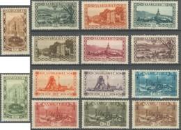 Sarre 1920-1935 - N° 107 à 120 (YT) N° 107 à 120 (AM) Neufs *. - 1920-35 Société Des Nations