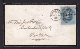 1888 - 1 P. Stempelmarke Blau Auf Trauerbrief In Winbledon Gebraucht - 1840-1901 (Victoria)