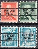 USA Precancel Vorausentwertung Preo, Locals Kansas, Saint John L-1 TS, 4 Diff. - Vereinigte Staaten