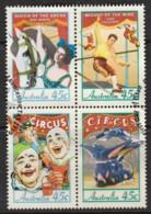 Australia 1997 Circus Block Of 4 Used - 1990-99 Elizabeth II