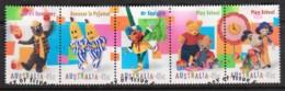 Australia 1999 Children's Television Strip Of 5 Used - - 1990-99 Elizabeth II