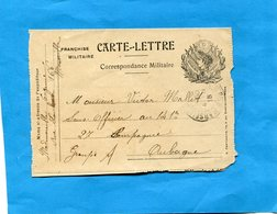 MARCOPHILIE-Guerre 14-18- Carte-lettre  F M Illustrée République - Marcophilie (Lettres)
