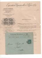 PJ11 Exposition Universelle Paris 1889 Cachet Société Générale Représentation Des Exposants L. MAICHAIN Filigramme JPW - 1800 – 1899