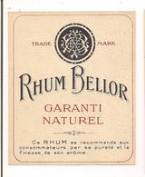 Etiquette Rhum Bellor - Garanti Naturel  - - Rum