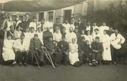 090819 - CARTE PHOTO 17 BREUILLET ROYAN 1914 Hôpital Militaire Convalescent Infirmière - Photo 4 Rue Gambetta ROYAN - Francia