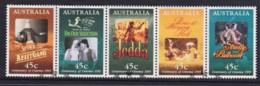 Australia 1995 Centenary Of Cinema Strip Of 5 Used - 1990-99 Elizabeth II