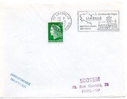 RELIGION CATHOLIQUE = 22 LAMBALLE 1972 = FLAMME  à DROITE = SECAP Illustrée D'une église'HARAS' - Postmark Collection (Covers)