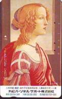 Télécarte Japon * PEINTURE ITALY * ART  (2307a) BOTTICELLI * SIMONETTA VESPUCHI * Japan * Phonecard * KUNST TELEFONKARTE - Pittura