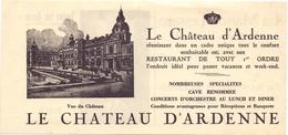 Pub Reclame - Restaurant - Le Chateau D'Ardenne - Publicités