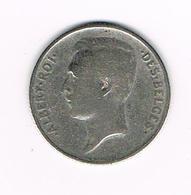 //  BELGIE ALBERT I  1 FRANK 1912  FR  ZILVER - 07. 1 Franc