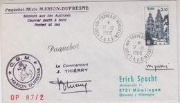 TAAF 1986 Paquebot Mixte Marion Dufresne Ca Port-aux-Francais 17.12.1986 (44095) - Franse Zuidelijke En Antarctische Gebieden (TAAF)