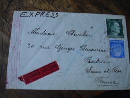 Guerre 39.45 Lettre Express De Wien Censure Allemande Pour Chatou - Marcophilie (Lettres)