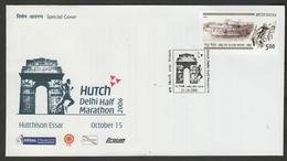 India  2006  Atheletics  Hutch Half Marathon  New Delh  Special Cover  # 21241   D Inde Indien - Athletics