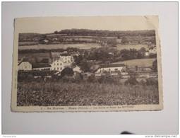 TEL6-   CPA En Morvan Moux Les Ecoles Et Route Des Settons Niévre 1945 Petit Defaut Haut Droit - Autres Communes