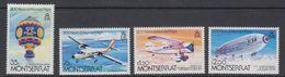 Montserrat 1983 Manned Flight 4v ** Mnh (44097) - Montserrat
