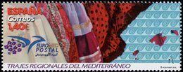 Spain - 2019 - Euromed - Traditional Costumes Of The Mediterranean - Mint Stamp - 1931-Aujourd'hui: II. République - ....Juan Carlos I