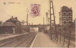 Linkebeek - De Statie - La Gare (Edition Moorkens-Croon, Vignette Batterie Hellesens, Animatie) - Linkebeek