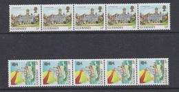 Guernsey 1987 Definitives Views Coil Stamps 2v Strip Of 5 ** Mnh (44098) - Guernsey