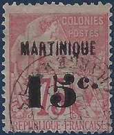 France Colonies Martinique N°18 Oblitéré Frais & TTB (tirage 5000) - Martinique (1886-1947)