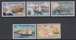 Guernsey 1983 Golden Era Of Shipping 5v ** Mnh (44098B) - Guernsey