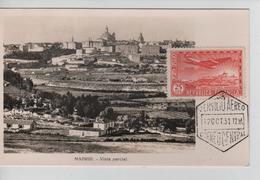 PR6669/ Spain Maximum Card Madrid Vista Parcial Cancellation Correo Central 1931 - Maximum Cards