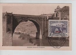 PR6670/ Spain Maximum Card Toledo Puente De Alcantara Cancellation Madrid 1931 - Maximum Cards